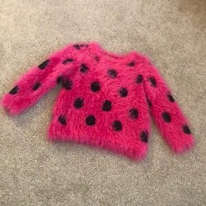 Toddler Girl Fuzzy Sweater